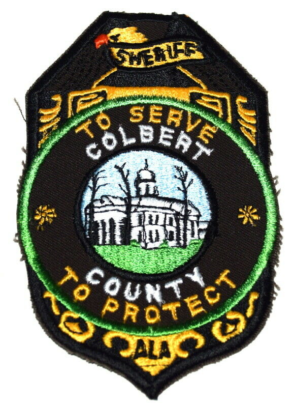 COLBERT COUNTY ALABAMA AL Sheriff Police Patch COURTHOUSE ~