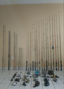 FISHING GEAR. NEW RODS REELS LURES TACKLES BOX NET LANTERN LINES