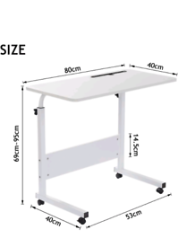 80 × 40 cm Laptop Table for Sofa or Bed, Laptop Desk, Standing Height