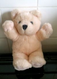 Cream fluffy teddy bear