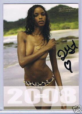 2008 SI Swimsuit; Quiana Grant Autograph Card