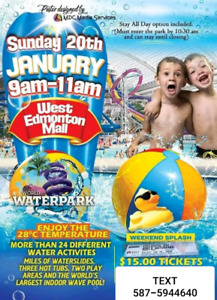 WEM stay all day waterpark pass