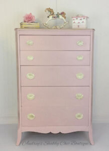 Pretty Pink Dresser/five drawer