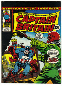 1976 CAPTAIN BRITAIN #25 Featuring Captain America Kitchener / Waterloo Kitchener Area image 1