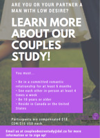 Looking for Male Volunteers for Research Study