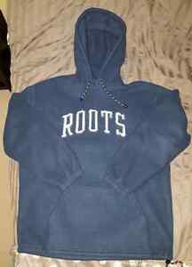 Men's Roots Hooded Sweater - Size Small *fits like medium*