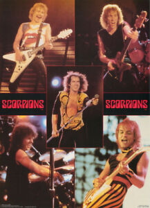POSTER : MUSIC : SCORPIONS  LIVE - ALL 5 MONTAGE - FREE SHIPPING ! #15-353 LW9 S