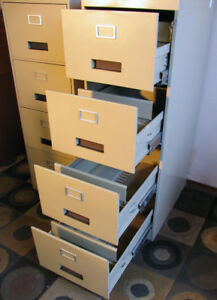 2 Locking Excellent Cole Legal Sized Filing Cabinets SEE VIDEO