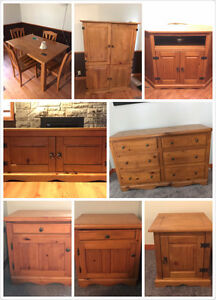 9 pieces solid wood style furniture set MUST be gone THIS WEEK!!