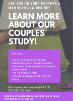 Needed: Men with Low Desire for Paid Study