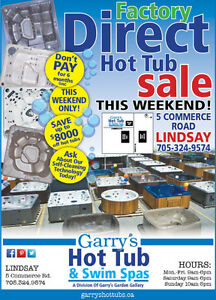 Factory Direct Hot Tub and Swim Spa Sale--This Weekend!
