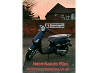 Neco Azzuro S 50cc 50 Moped, Learner legal 16 years and above.