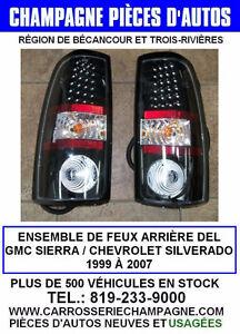 KIT DE FEUX ARRIÈRE DEL PICK-UP SILVERADO SIERRA 1999 À 2007 LED