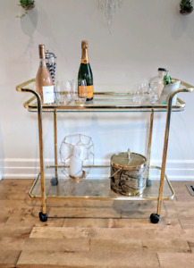 Gorgeous gold Bar Cart ( mcm style )