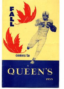 QUEEN'S 1955 FALL PROGRAMME
