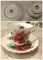 Royal Stafford, Royal Albert tea cups with saucers, tea cup set