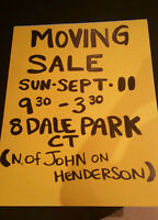 Moving Sale!  Great items for everyone! Sept 11. 9:30 - 3:30