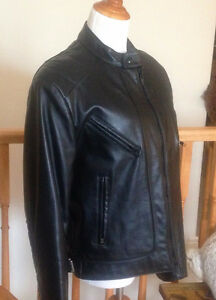 Leather Motorcycle Jacket, Mens