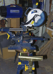 "10"" Sliding Compound Miter Saw With Folding Stand"