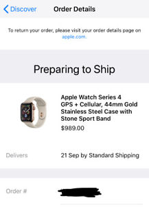 Apple Watch Series 4 Stainless Steel Gold 44mm