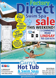 FACTORY DIRECT SWIM SPA SALE - THIS WEEKEND!