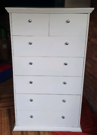 White Tall Chest of Drawers