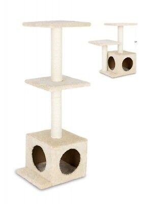 animal-design Katzen Kratzbaum klein & stabil beige Sisal Höhe 61 cm oder 97 cm ()