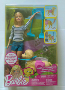 New Barbie with Walk and Potty Pup - really walks