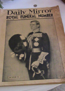 Daily Mirror, Overseas Edition, Royal Funeral, 1936 Kitchener / Waterloo Kitchener Area image 1