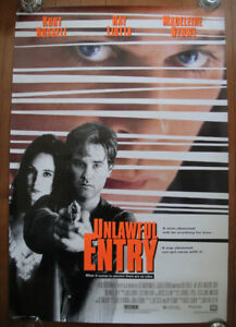 Unlawful Entry (1992) Original Rolled Movie Poster