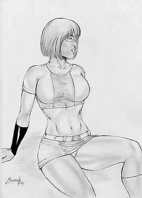 Marvel Girl Rachel Summers original art pinup by Mayara Ley
