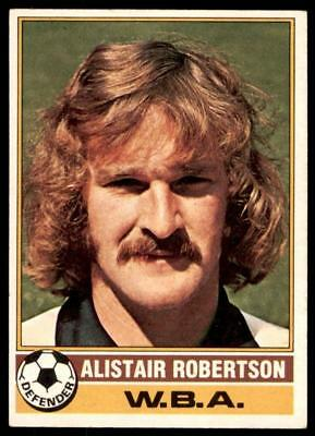 TOPPS FU BALL ROT 1977 B1 ALISTAIR ROBERTSON WEST BROMWICH ALBION NR 166