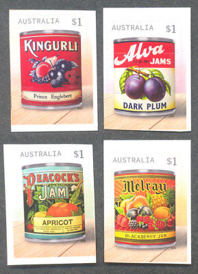 Australia-Vintage Jam labels-self-adhesive  set mnh -2018