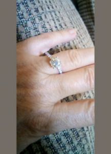 Sterling silver moissanite ring clear sz 8