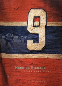Livre sur la carriere de l'unique Maurice Richard de collection