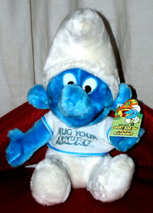 1980s PLUSH SMURFS WITH TAGS INTACT