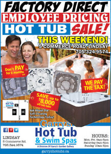FACTORY DIRECT EMPLOYEE PRICING HOT TUB SALE