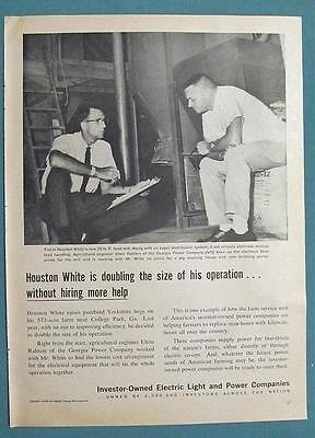 Orig 1962 Electric Co's  Ad Photo Endorsed by Houston White of College Park GA
