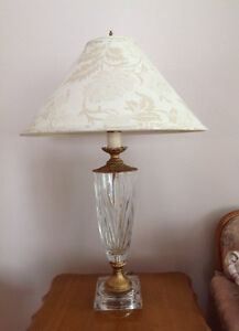 Beautiful crystal lamp set