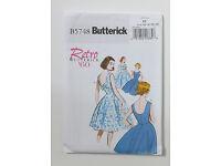 Uncut New Butterick 5748 Retro Style Dress Sewing Pattern