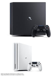 ISO White PS4 Pro! Will trade PS4 Pro black + CASH!!