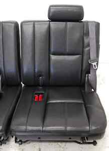 Chevy Truck Escalade BLACK LEATHER Third Row Seats 3rd Tahoe