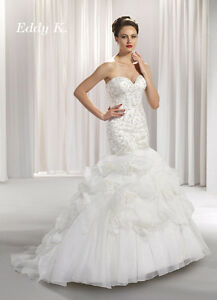 Eddy K. Beaded and Corseted Mermaid Style Wedding Dress $800