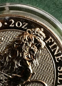 2016 Queen's Beasts 2 oz Fine Silver Coin ~ Lion of England