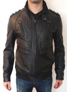 Manteau de cuir pour homme Rudsak noir XS