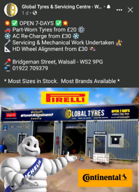 💫 Brand New & Used Tyres from £20   Wheel Alignment & Servicing 💥