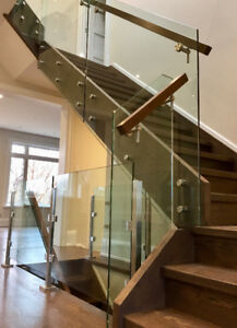 GLASS RAILINGS FOR STAIRS PORCH DECKS