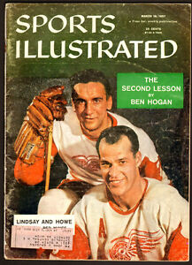 1957 Sports Illustrated Magazine with Gordie Howe on cover