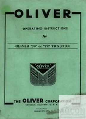 Oliver 90 99 Tractor Operator Instruction Manual