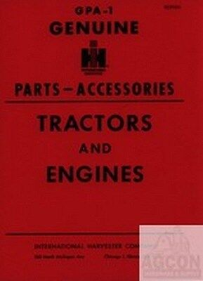 International Harvester Farmall Parts Accessories Tractor Engine Parts Manual Ih